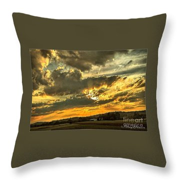 God Hand Throw Pillow by MaryLee Parker