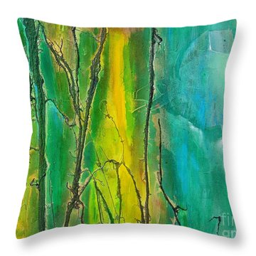 God Has Moved  Into The Neigborhood Throw Pillow by Dan Whittemore