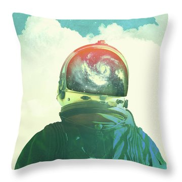 God Is An Astronaut Throw Pillow by Fran Rodriguez