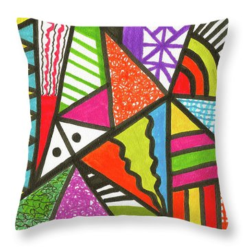 God Is Color Redux Throw Pillow