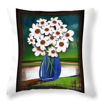 God Is Good All The Time Throw Pillow by Shevon Johnson