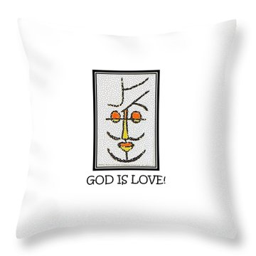 God Is Love Throw Pillow