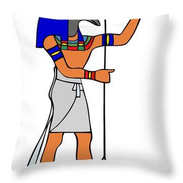 God Of Ancient Egypt - Seth Throw Pillow