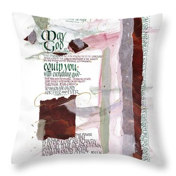 God Of Hope Throw Pillow by Judy Dodds