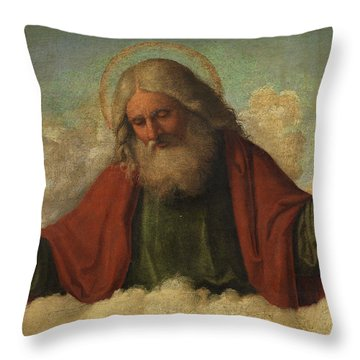 God The Father Throw Pillow