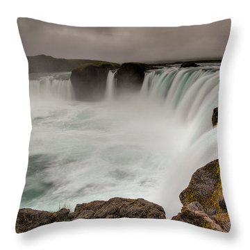 Godafoss Throw Pillow