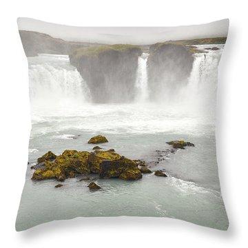 Throw Pillow featuring the photograph Godafoss by Joe Bonita