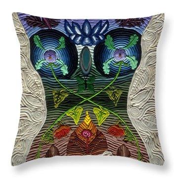 Godbody Throw Pillow by Arla Patch