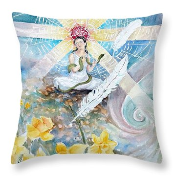 Goddess Awakened Throw Pillow