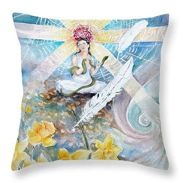 Goddess Awakened Throw Pillow