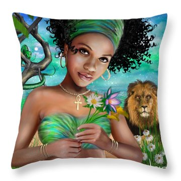 Goddess Bastet Throw Pillow