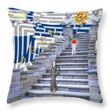 Goddess Enters Throw Pillow