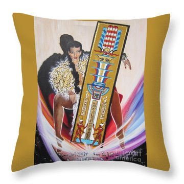 The  Tet Of Osiris Fra Blaa  Kattproduksjoner  Throw Pillow