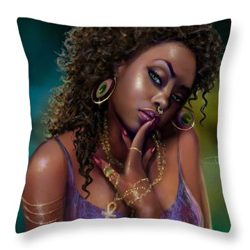 Goddess Kali Throw Pillow