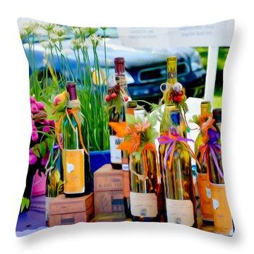 Goddess Of Garlic Throw Pillow by Lanjee Chee