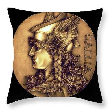 Goddess Of Gaul Throw Pillow