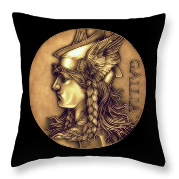 Goddess Of Gaul Throw Pillow by Fred Larucci