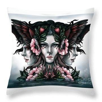 Goddess Of Magic Throw Pillow