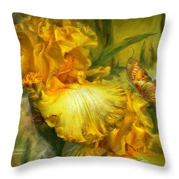 Goddess Of Summer Throw Pillow