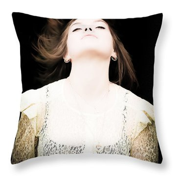 Goddess Of The Moon Throw Pillow by Loriental Photography