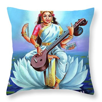 Goddess Of Wisdom And Knowledge Throw Pillow