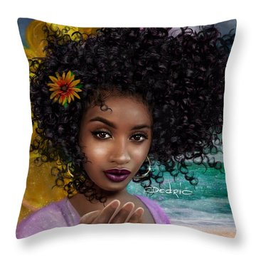 Goddess Oshun Throw Pillow