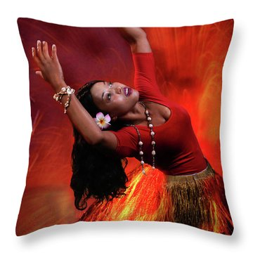 Goddess Pele Throw Pillow