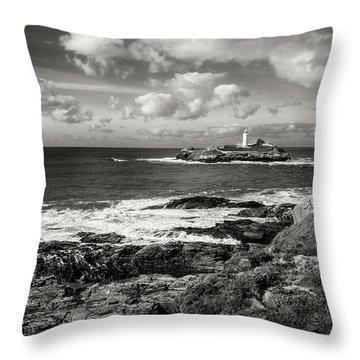 Godrevy Lighthouse 1 Throw Pillow