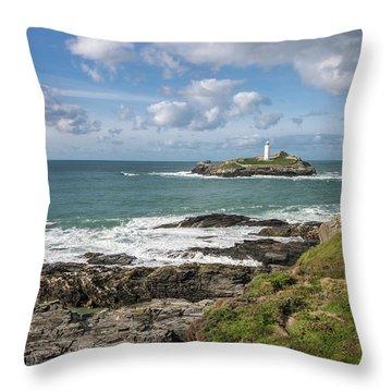 Godrevy Lighthouse 3 Throw Pillow