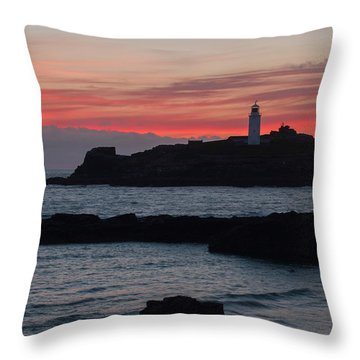 Godrevy Lighthouse Throw Pillow