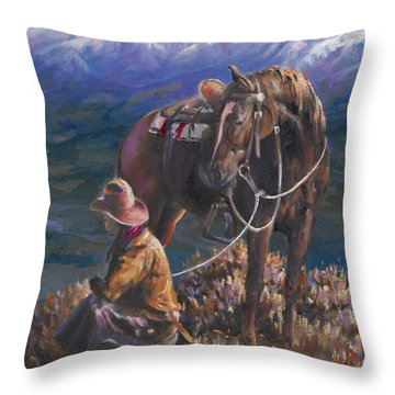 God's Country Throw Pillow by Mia DeLode
