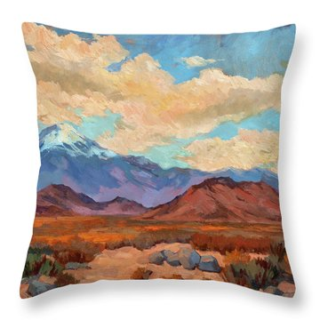 God's Creation Mt. San Gorgonio  Throw Pillow