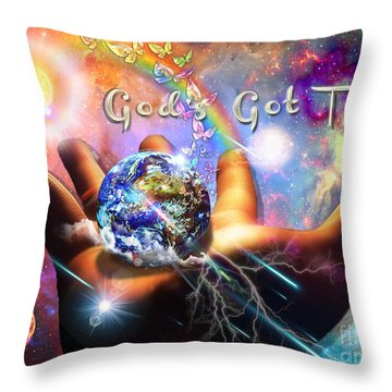 God's Got This Throw Pillow by Dolores Develde