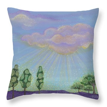 God's Grace Throw Pillow by Tanielle Childers