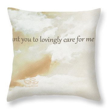 Throw Pillow featuring the photograph God's Loving Care by Beauty For God