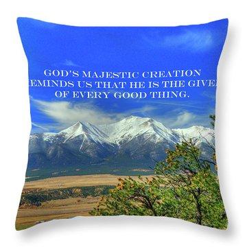 God's Majestic Creation Throw Pillow