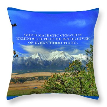 God's Majestic Creation Throw Pillow