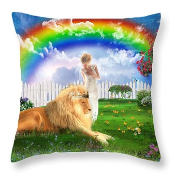 God's Perfect Promise  Throw Pillow by Dolores Develde