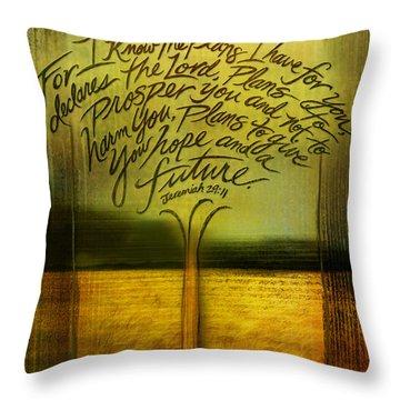 God's Plans Throw Pillow