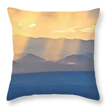 God's Rays Over The Great Basin  Throw Pillow