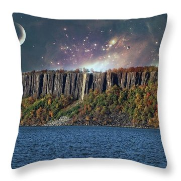 God's Space Over Planet Earth Throw Pillow