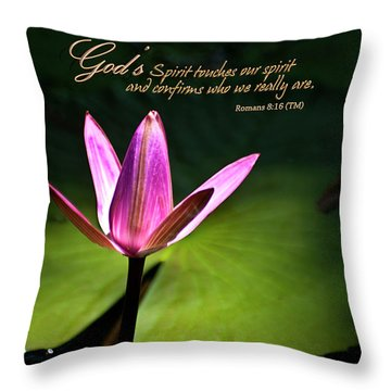 God's Spirit Throw Pillow