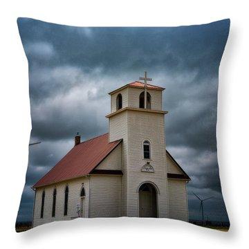 God's Storm Throw Pillow by Darren White