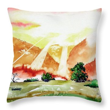 God's Sunset Throw Pillow