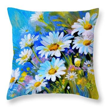 Throw Pillow featuring the digital art God's Touch by Karen Showell