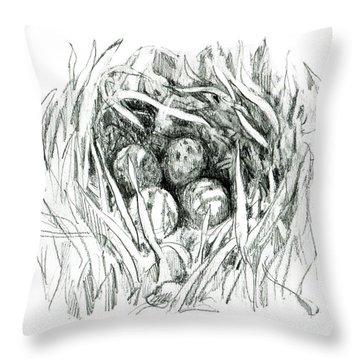 Godwit Nest Throw Pillow