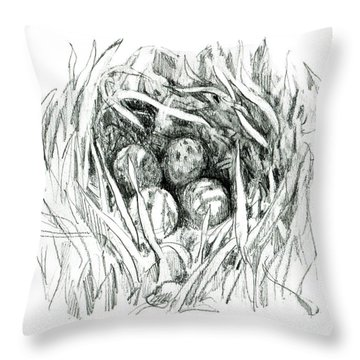 Godwit Nest Throw Pillow