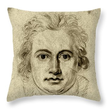 Goethe Throw Pillow by Asok Mukhopadhyay