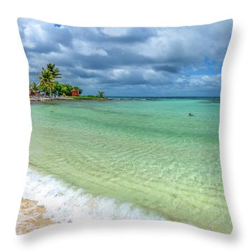 Goff's Caye Belize Pano Throw Pillow