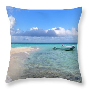 Goff's Caye Island Throw Pillow